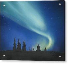Blue Green Aurora Borealis Acrylic Print by Cecilia Brendel