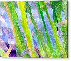 Blue Green Fantasy Acrylic Print by Sylvie Moncion
