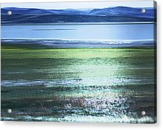 Blue Green Landscape Acrylic Print by Belinda Greb