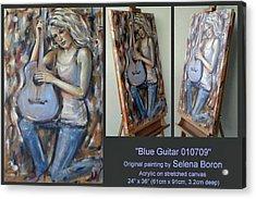 Blue Guitar 010709 Comp Acrylic Print by Selena Boron