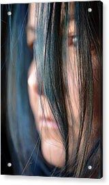 Feeling Blue Acrylic Print by Marianna Mills