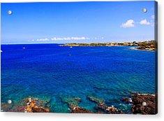 Acrylic Print featuring the photograph Blue Hawaiii by Athala Carole Bruckner