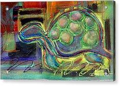 Blue Hawain Turtle Acrylic Print