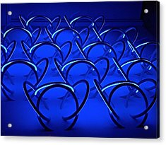 Acrylic Print featuring the photograph Blue Haze Circles by Joan Reese