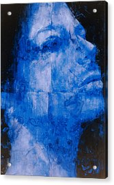 Blue Head Acrylic Print by Graham Dean