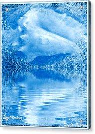 Blue Healing Acrylic Print by Ray Tapajna