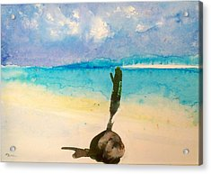 Acrylic Print featuring the painting Blue Heaven by Ed  Heaton