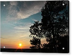 Acrylic Print featuring the photograph Blue Heaven Sunset by Julie Andel