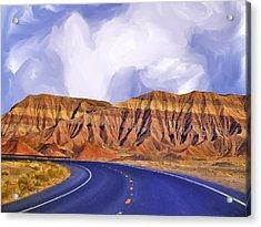 Blue Highway Acrylic Print