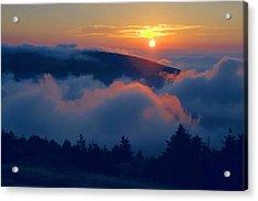 Blue Hill Sunset - Acadia Acrylic Print by Stephen  Vecchiotti