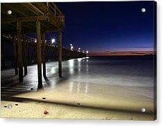 Blue Hour At Port Hueneme Pier Acrylic Print