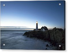 Blue Hour At Portland Head Acrylic Print by Eric Gendron