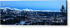 Blue Hour In Breckenridge Acrylic Print by Ronda Kimbrow