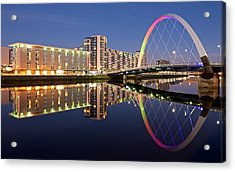 Blue Hour In Glasgow Acrylic Print by Stephen Taylor