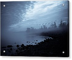 Blue Hour Mist Acrylic Print by Mary Amerman