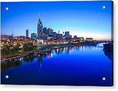 Blue Hour Over Nashville Acrylic Print
