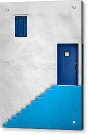 Blue House Acrylic Print by Alfonso Novillo