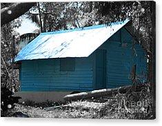 Blue House  Acrylic Print by Bobby Mandal