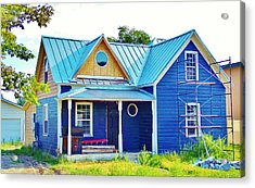 Blue House Acrylic Print