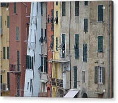 Blue House Portovenere Italy Acrylic Print by Sally Ross