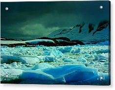 Acrylic Print featuring the photograph Blue Ice Flow by Amanda Stadther