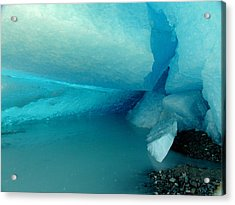 Blue Ice Acrylic Print by Susan Stephenson