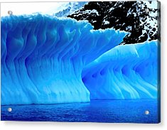 Acrylic Print featuring the photograph Blue Iceberg by Amanda Stadther