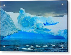 Acrylic Print featuring the photograph Blue Icebergs by Amanda Stadther