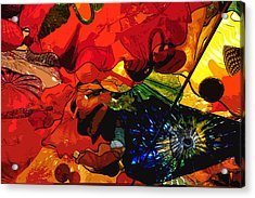 Acrylic Print featuring the digital art Blue In A Playground Of Red by Kirt Tisdale