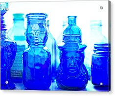 Blue In The Face Acrylic Print