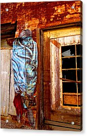 Acrylic Print featuring the photograph Blue Indian by Marilyn Diaz