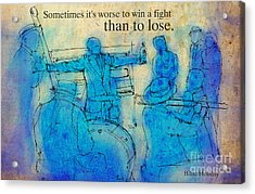 Blue Jazz - Bille Holiday Quote Acrylic Print by Pablo Franchi