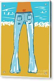 Blue Jean Summer Acrylic Print