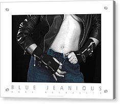 Blue Jeanious Bare Necessity Poster Acrylic Print by David Davies
