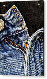Blue Jeans Acrylic Print by Wade Brooks