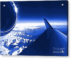 Acrylic Print featuring the photograph Blue Jet Pop Art Plane by R Muirhead Art
