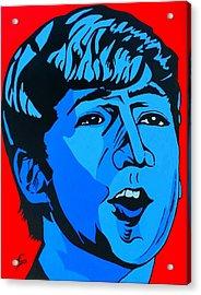 Blue  John Lennon Acrylic Print