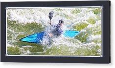 Blue Kayak At Great Falls Md Acrylic Print