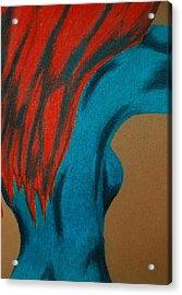 Blue Lady Acrylic Print