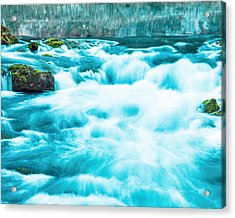 Acrylic Print featuring the photograph Blue Lagoon by Steven Bateson