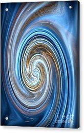 Blue Lagoon Swirls - Abstract Art Acrylic Print by Carol Groenen