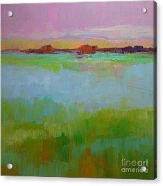 Blue Lagoon Acrylic Print by Virginia Dauth