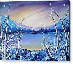 Blue Lake Acrylic Print by Beverly Livingstone