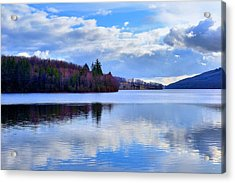 Blue Lake Acrylic Print by Dave Woodbridge