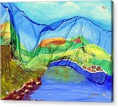 Blue Lake Silk Acrylic Print