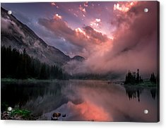 Blue Lakes Summer Sunset Acrylic Print