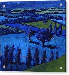 Blue Landscape Acrylic Print by Paul Powis
