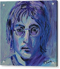 Acrylic Print featuring the painting Blue Lennon by Jeanne Forsythe