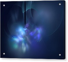 Blue Light Acrylic Print by Nafets Nuarb