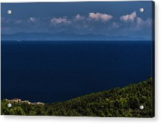 Acrylic Print featuring the photograph Blue Liguria by Enrico Pelos